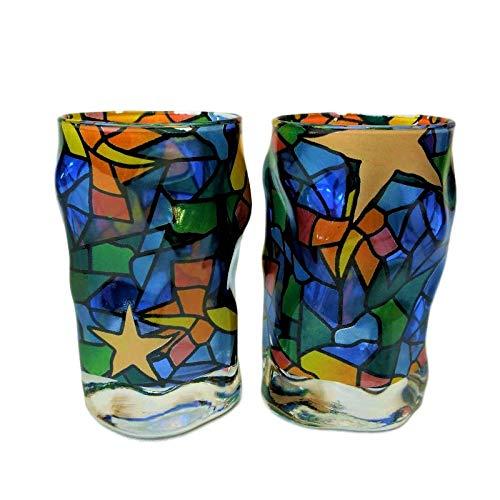 Set de 2 Vasos de chupitos en Cristal Gaudi Triana Estrellas