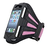 Premium Pink Armband Gym Running Sport Case Holder for Apple iPhone & iPod 4 / 4S 4G