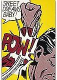 ZFB8B Puzzle 1000 Teile Pop Art Puzzle Stichsägen, Roy Lichtenstein Sweet Dreams Baby-Pow Kunstwerk Puzzles aus Holz 1000 Stück, lustiger DIY Dekomprimierung Jigsaw Spielzeug