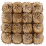 Tengsen 12cm DIY Faux Fox Fur Fluffy pom pom Ball for Hats Shoes Scarf Bag Key Chain Accessories Knitted hat Accessories (Fashion Color, 16 pcs)