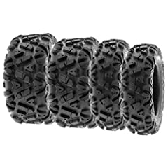 Tire Size [ 25x8-12 ] designed to mount on 12 (in) RIM. Tire Size [ 25x10-12 ] designed to mount on 12 (in) RIM. Directional angled knobby tread design great in most terrain with high performance on trails and suitable for desert, mud, dirt and rock ...