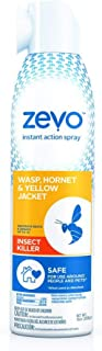 Zevo Wasp Hornet Bee and Yellow Jacket Stinging Insect Killer | Instant Action Aerosol 10Oz. Spray | Multi Insect Killer Repellent | Indoor Outdoor Use | Pet People Friendly Safe