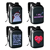 Tesinll DIY Fashion Backpack,LED Full-Color Screen Travel Laptop Backpack For Adult and College Students, 15.5Inch Black,Best Gift for Men