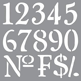 DecoArt ADS-09 Americana Decor Stencil, Old World Numbers