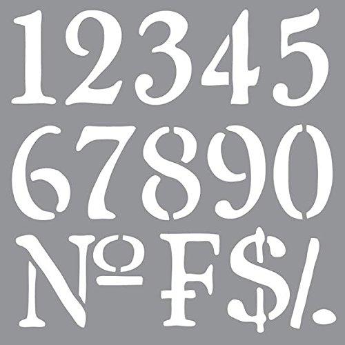 Deco Art ADS-09 Americana Decor Stencil, Old World Numbers