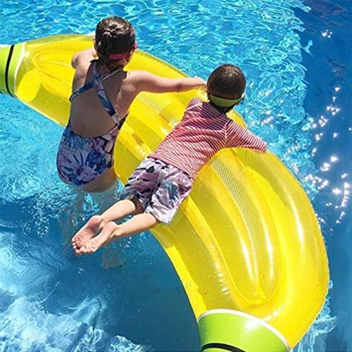 L.J.JZDY Schwimmbad 180x65cm Riesen Banana aufblasbar Pool Float Lie-on Fruit Luftmatratze for Erwachsene Kinder-Pool-Party