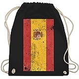 Shirtracer Länder - Spanien Flagge Vintage - Unisize - Schwarz - spanien flagge - WM110 - Turnbeutel und Stoffbeutel aus Baumwolle
