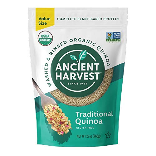 Ancient Harvest Pre-Rinsed Organic Quinoa, Traditional White, 27 oz