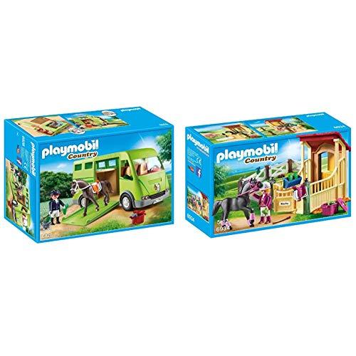 Playmobil 6928 - Pferdetransporter & 6934 - Pferdebox Araber
