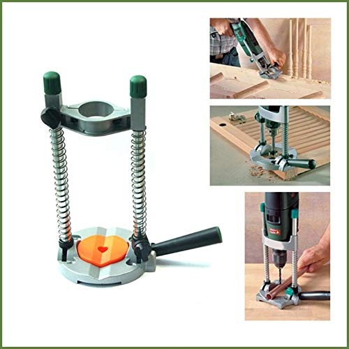 Mini Drill Holder Stand Clamp-on Electric Drill Bench for Polishing/Grinding for Horizontal Vertical or Angular Position