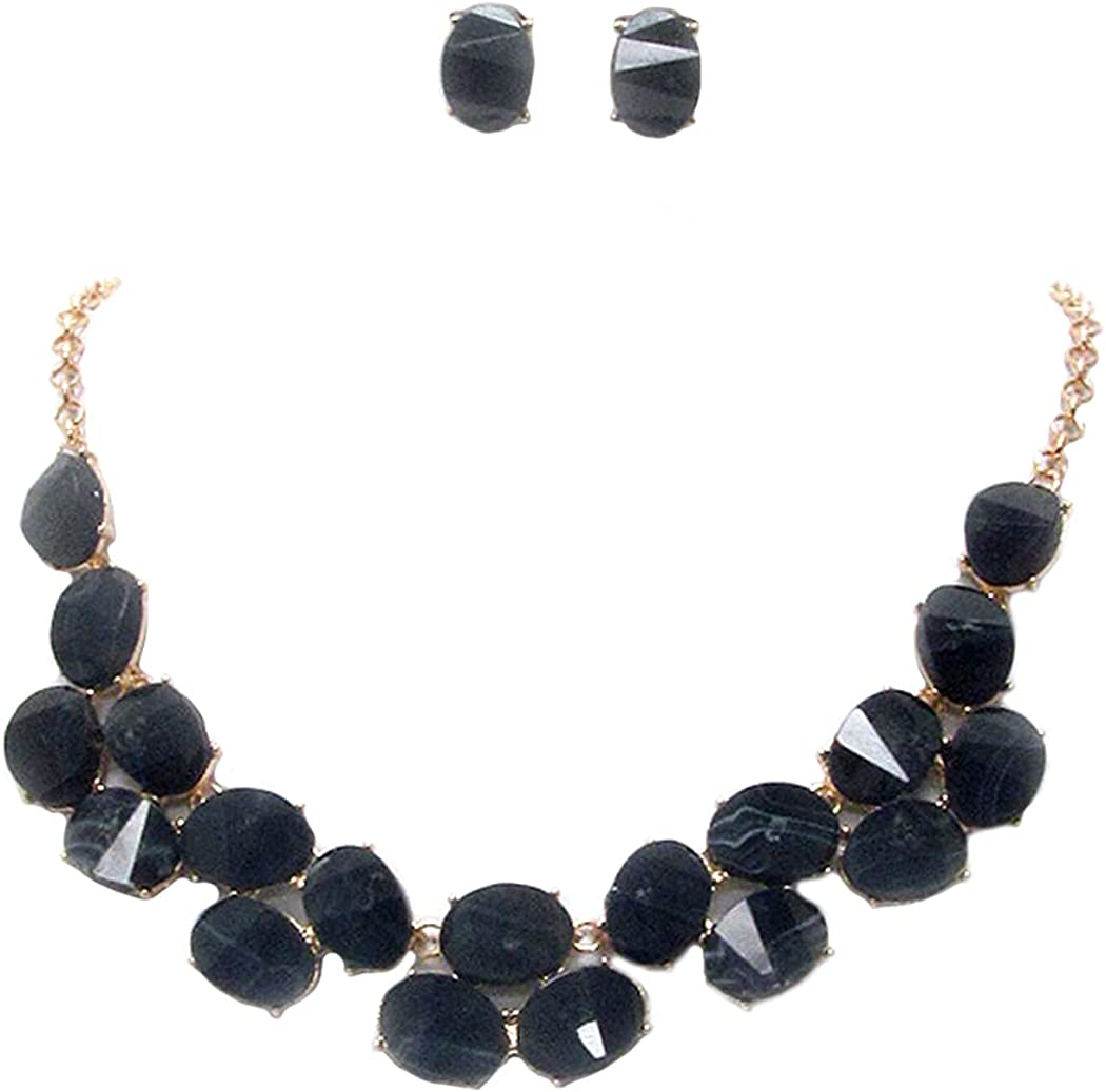 Fashion Jewelry Ranking TOP3 ~ Black Multi Statement Facet Popular products Acrylic Stone Link
