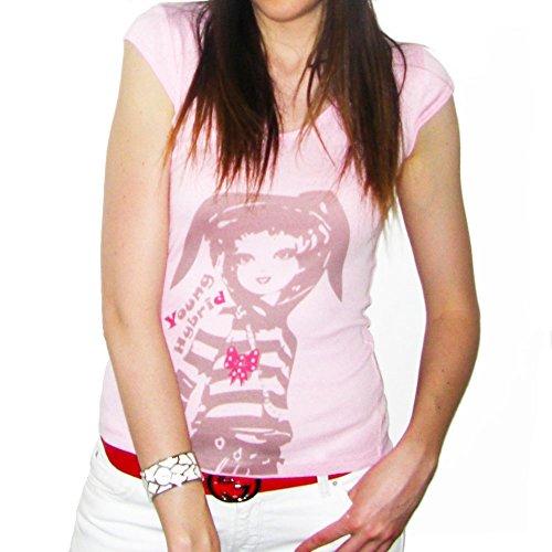 Young Light : T-shirt Femme imprimŽ manga - Blanc, M, t shirt femme,cadeau