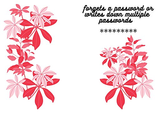 forgets a password or writes down multiple journal book 6x9 inch 120page:  passwords Log Book and Internet Password Organizer, Alphabetical Pocket, Protect ... | Ping Flower Forever (English Edition)