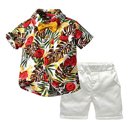 Great Price! Baby Outfits (6M-5T) Ikevan Toddler Baby Boy Short Sleeve Bow Tie Gentleman Leaf T-Shir...