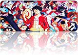 One Piece Mouse Pad Large Gaming Anime Mousepad, Waterproof Non-Slip Mouse Mat with Stitched Edges for PC, Laptop(31.5