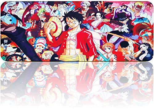 One Piece Mouse Pad Large Gaming Anime Mousepad, Waterproof Non-Slip Mouse Mat with Stitched Edges for PC, Laptop(31.5'x11.8')