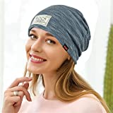 Gaddrt - Pañuelo Elástico para Mujer, Diseño Indio, poliéster, Ajustable, Mujer, Azul, FreeSize