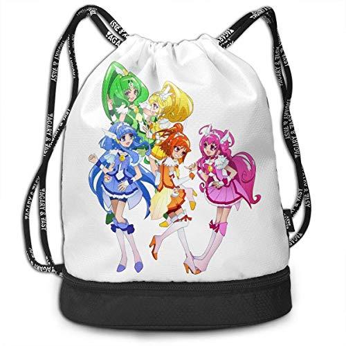 Rucksäcke,Sporttaschen,Turnbeutel,Daypacks, Glitter Force Drawstring Bag Bundle Backpack Camping Backpack Sport Bag for Men & Women