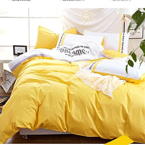 GTMLG Baumwoll Blech Quilt Cover 2 M 2X2 Meter 4 4 Stück Set Persönlichkeit Black Europe Wind Men Es Mediterrane Massiv Farbe,220 * 240Cm