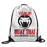 Etryrt Zaino con Coulisse,Borse Sacca,Sacchetto Venum Muay Thai Logo Gym Bag Travel Orts Drawstring Backpack