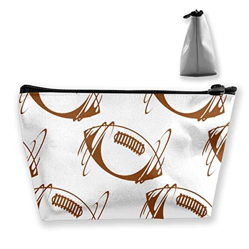 Trapez-Kulturbeutel Tragbare Reisetasche Rugby-Bälle Kosmetiktaschen