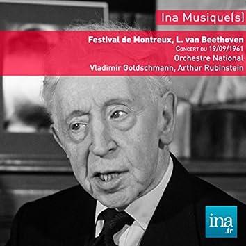 Festival de Montreux, Haydn - Beethoven - Brahms, Orchestre National de la RTF, Concert du 19/09/1961, Vladimir Golschmann (dir), Arthur Rubinstein (Piano)