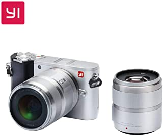 YI M1 4K 20 MP Mirrorless Digital Camera with Interchangeable Lens 12-40mm F3.5-5.6 Lens / 42.5mm F1.8