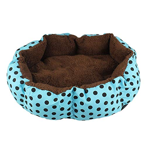 Transer Hondenmand Indoor Polka Dot Print Winter Warm Soft Fleece Hond Kat Bed Mat Voor Kleine Middelgrote Honden