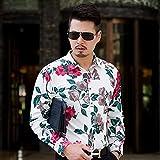 Camisa de Cuadros Plus Size 7XL 6XL 5XL Long Sleeve Floral Shirt Men ClothesAutumn Winter Simple Regular Fit Casual Blouse Homme Sale Asian4XL90-95K