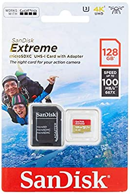 SanDisk Extreme 128GB microSDXC UHS-I U3 V30 A1 Memory Card - SDSQXAF-128G-GN6AA