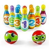 Exterieur Intérieur Jeu de Quilles Mini Bowling Jeux Jouet Enfant - avec 2 Ballons et 10 Quilles Jeux Exterieur Enfant Plein Air Educatif Cadeau pour Enfants Garçon Fille 3 4 5 6 7 Ans