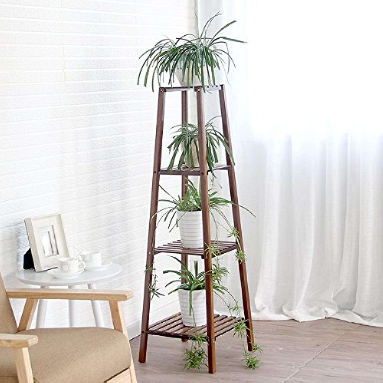 Flower Stand Shelf Solid Wood Multilayer Chlgoldphytum Green Plant Display Indoor Flower Pot Rack Floor Shelves