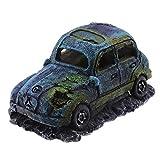 Create Idea - Adorno de resina de imitación para acuario, terrario de coche, decoración de interiores, 12 x 7 x 7 cm, color azul