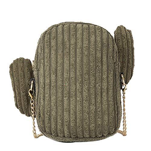 VENMO Frauen Leinwand kleine Tasche Einfache Kaktus-Tasche Wilde süße Umhängetasche Messenger Bag Schultertasche Umhänge Schulter Reise Tasche Reisetasche