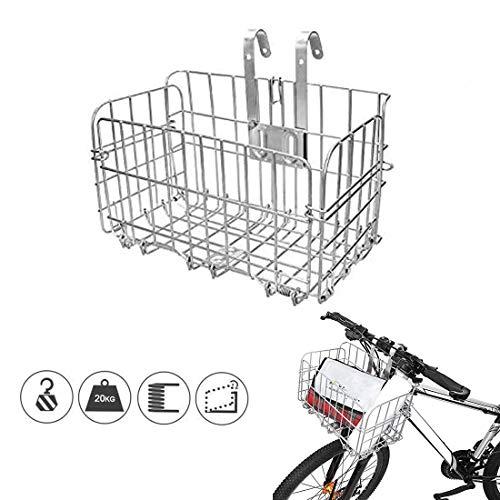 CEASELESLY Cestino per bici,Cestino per Bicicletta elettrica,Cestino Pieghevole per Bici,Cestino Multiuso per Biciclette per Animali Domestici,per diverse biciclette pieghevoli e mountain bike.