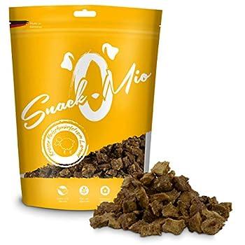 SnackOMio Dés d'Agneau Croustillants Mâcher Premium pour Chien 125 g