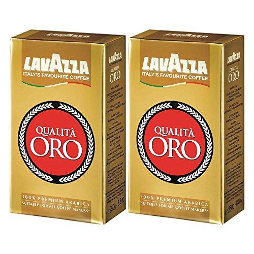 Lavazza Kaffee Qualità ORO, gemahlener Bohnenkaffee (2 x 250g)