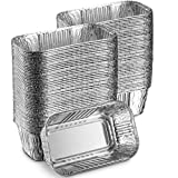 "MontoPack Aluminum Mini Disposable Loaf Pans | Deep Half Size 6 x 3.5"" Extra Thick Foil Bread Containers for Baking, Food Storage & Takeout 