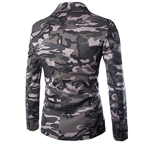 Vovotrade heren Camouflage jas blazer heren herfst winter pak jas Sakko Cardigan vrije tijd slim fit lange mouwen jas jas trenchcoat