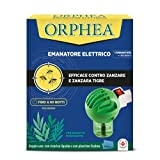 Orphea Insetticida, Emanatore Elettrico Contro gli Insetti, con Eco Sensor ad Attivazione Notturna, all'Euclipto, Emanatore + 1 Ricarica Liquida 30 ml