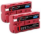 Baxxtar Pro (2X) Compatible con batería Sony NP-F550 (Genuino 3000mAh)