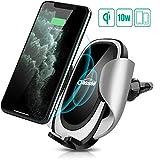 Oasser Chargeur Sans Fil de Voiture 10 W Chargeur à Induction de Voiture pouriPhone 11/Pro/Pro Max/XS/XS Max/XR Nexus 7/6/5 Galaxy S9/S8/S8+/S7/S6 Note 5 et Appareils Qi