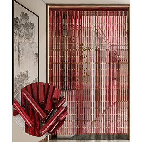 Pantalla de Cortina de Puerta con Cuentas de bambú, Partición de Estilo Retro Chino Cortina Feng Shui Hecho a Mano para Divisor de Puertas Decoraciones para el hogar