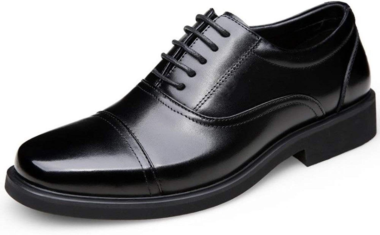 Hucusd Wear-Resistant Men's Leather shoes Men's Casual Non-Slip shoes Men's shoes Comfortable and Wearable Comfortable