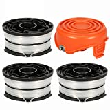 Thten String Trimmer Spools Compatible with Black and Decker DF-065 GH710 GH700 GH750 RC-065, DF-065-BKP Weed Eater Refills Line 36ft 0.065' Auto-Feed Dual Line Edger+ RC-065-P Spool Cover Cap
