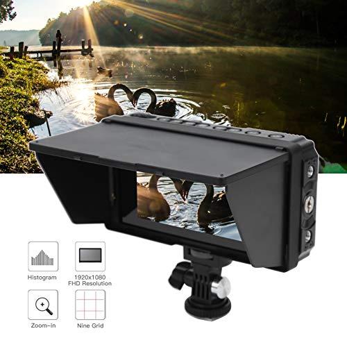 minifinker Monitor de cámara de 5 Pulgadas Monitor de cámara de 5 Pulgadas con operación de Pantalla táctil, para Monitor de cámara