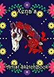 Xena's Artist Sketchbook: Xena Personalised Custom Name A4 Sketchbook / Sketchpad / Drawing Pad / Wo...