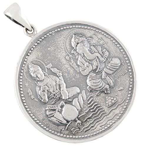 AFP Anhänger Ganesha Lakshmi 925 Sterling Silber AS-640