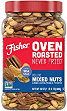 Fisher Snack Oven Roasted Never Fried, Deluxe Mixed Nuts, 24oz (Pack of 1), Almonds, Cashews, Pecans, Pistachios, Made With Sea Salt