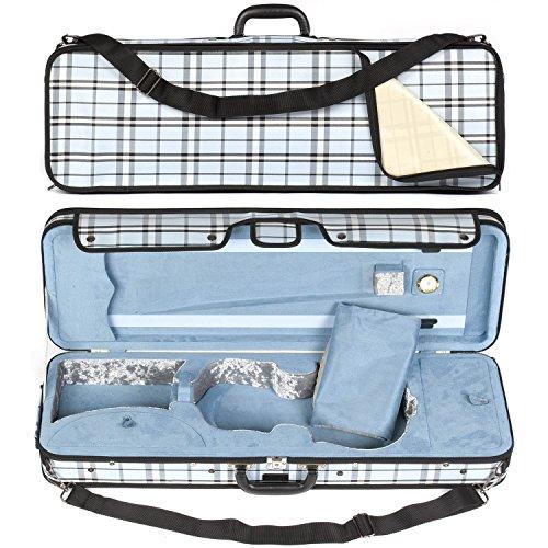 Core 440 Oblong 4/4 Violin Case, Blue Plaid